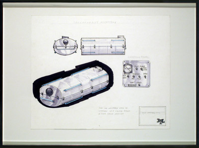 Sarcophagus Assembly, 2007, marker and pencil on paper, 2007, 18 5/16 x 24 3/16 inches (46.2 x 61.5 cm)