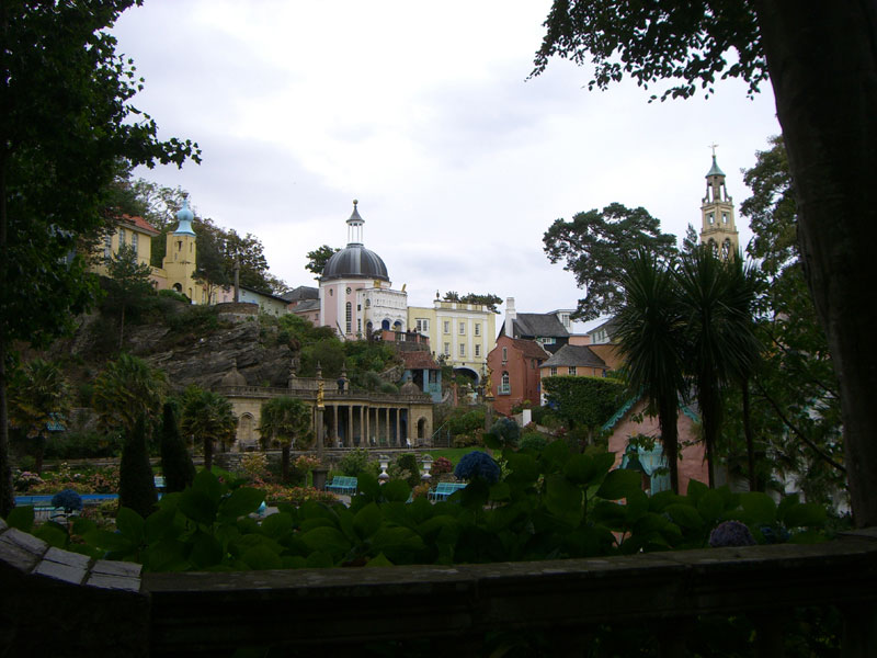 Portmeirion, Wales.  Built by Clough Williams-Ellis (1883-1978), who