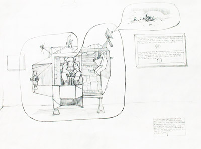 Poop Sheet-The Second, 2004, pencil on paper, 18x24 ins (45.5x61 cm)