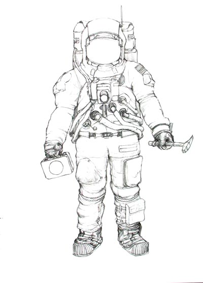 detailed drawings of astronauts - photo #45